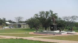 KNUST main entrance with Kwame Nkrumah Memorial