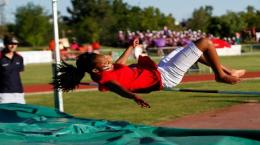 University of Free State high jumping student